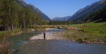 Fishing next to the Grossglockner